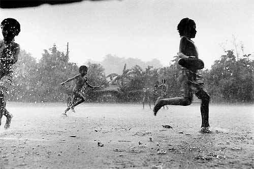 Rain Drops , Poor Kids , Joy  of life , Kids playing in rain